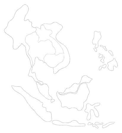 drawing  ASEAN Economic Community, AEC Stock Photo - 17576544