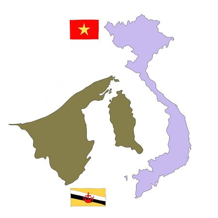 hand drawn   of flag of ASEAN Economic Community, AEC Stock Photo - 17576582