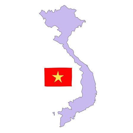 hand drawn   of flag of  Vietnam Stock Photo - 17576578