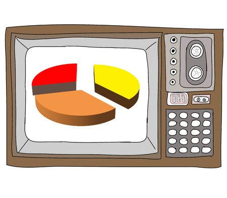 Drawing  television retro  and   graph Stock Photo - 17576697