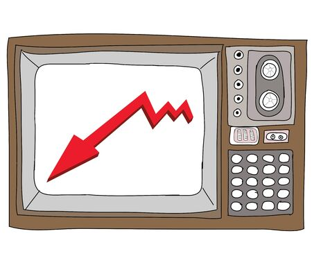 Drawing  television retro  and   graph Stock Photo - 17576683