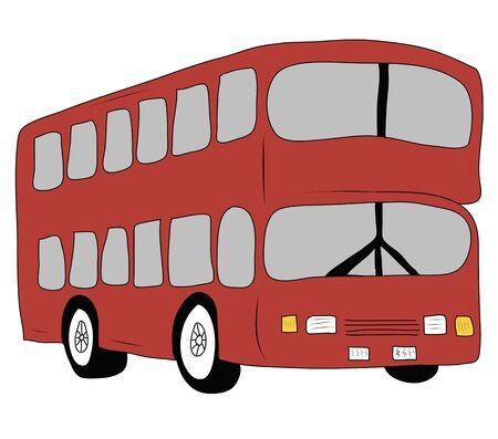 omnibus: London city bus Stock Photo