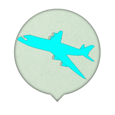 Airplane Sign icon on paper  background photo