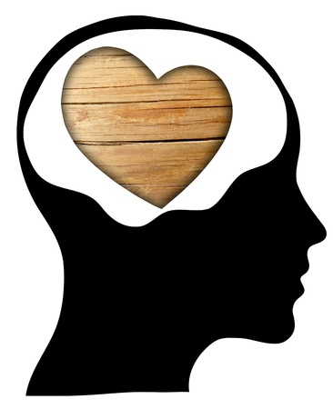 Love concept with human head photo