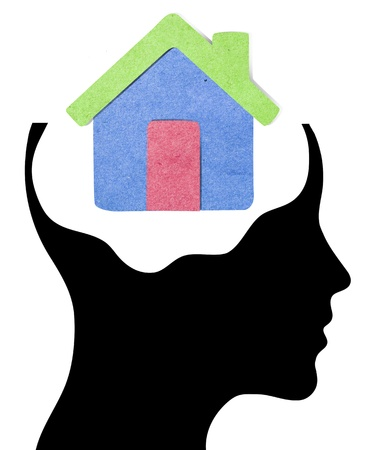 A concept for Dream Home, where Thinking head silhouette is shown photo