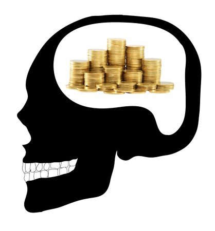 Business mind the human Skull photo