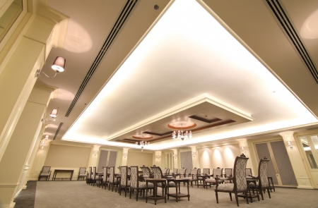 conference room meeting: Reception room in a hotel Editorial