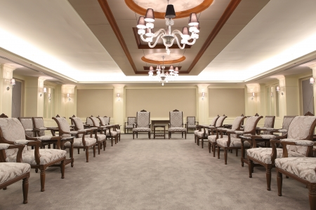 Reception room in a hotel