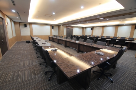 Business meeting room or boardroom interiors