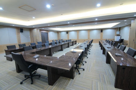 organized office: Business meeting room or boardroom interiors