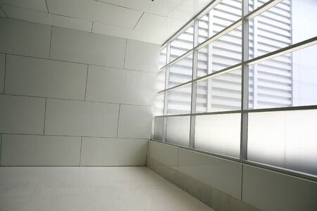 White empty room with shadow from a large window photo