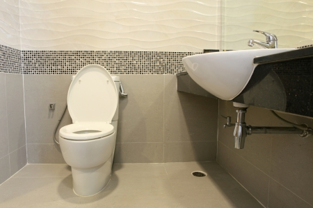 modern bath room interior Standard-Bild