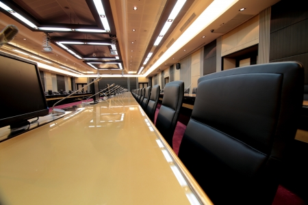 meeting room: Business meeting room or board room interior