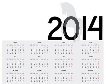 next year: Calendar of next year Illustration