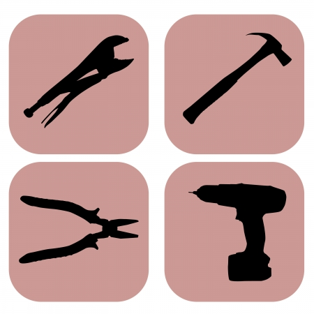 tools icons over white background vector illustration Stock Vector - 21634539