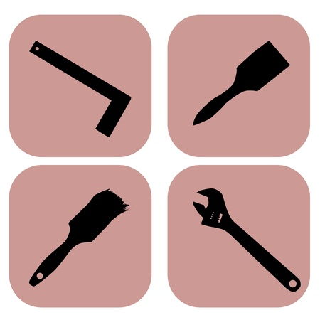 tools icons over white background vector illustration Stock Vector - 21634549