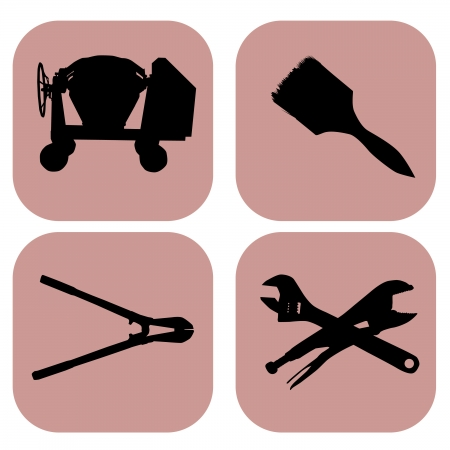tools icons over white background vector illustration Stock Vector - 21634551