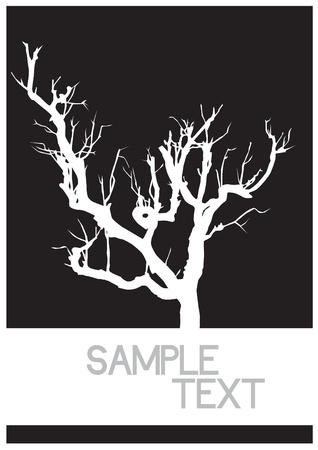 vector black silhouette of a bare tree Stock Vector - 21634570