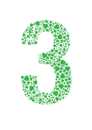 Number of green leaves vector Stock Vector - 21634671