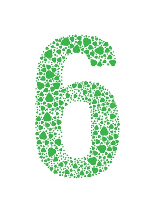 Number of green leaves vector
