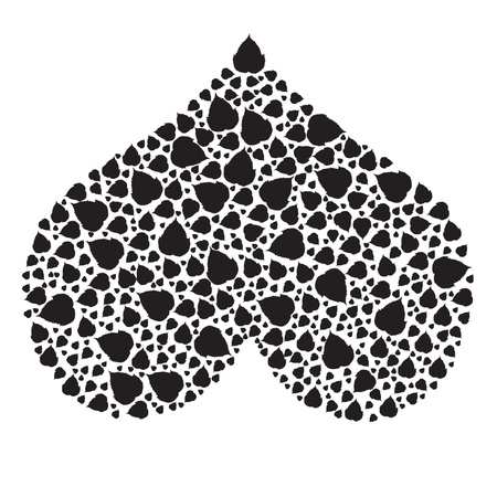 hearts made of leaves  Vector