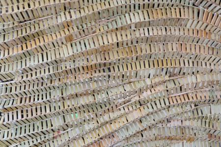 Pattern texture of bamboo weave hand made photo