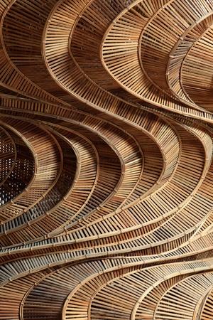 muebles de madera: Patrón de textura de bambú tejido hecho a mano