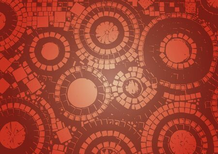 Pattern with   rounds on brown background Vector