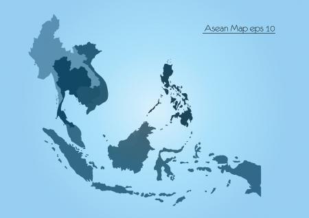 Asean Map Vector
