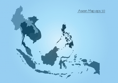 and in asia: Asean Map