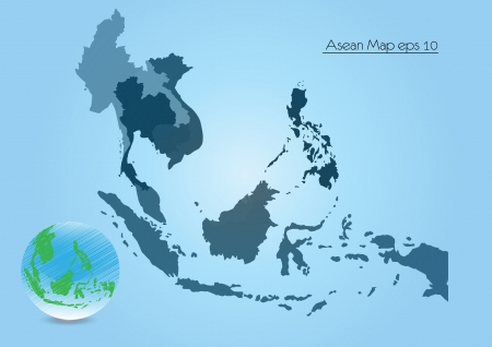 southeast asia: Asean Map