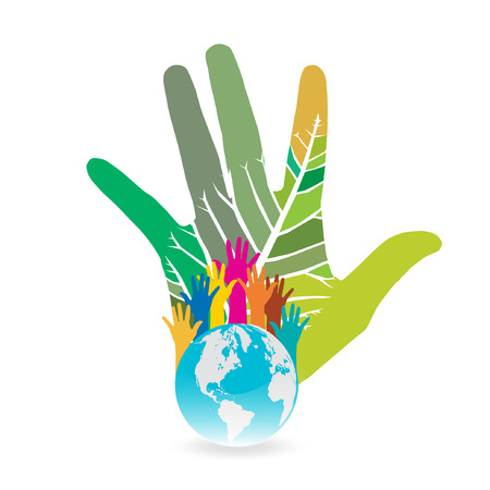 Hand Save The Earth Conceptual   Vector