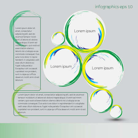 listing: Infographics vector design abstract layout for step data or listing information