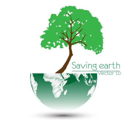 biological waste: Save the earth Vector illustration