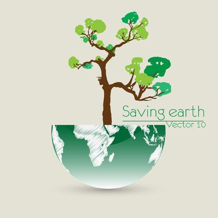 biological waste: Guardar la ilustraci�n vectorial Tierra