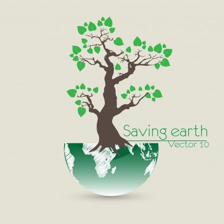 Save the earth Vector illustration Vector