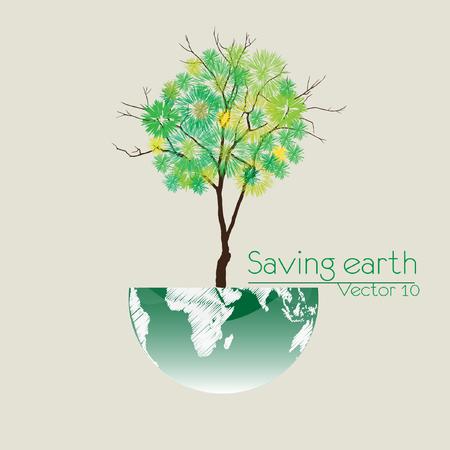 paz mundial: Guardar la ilustración vectorial Tierra