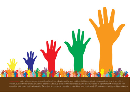 numbering: Hands  Abstract background for design, vector illustration