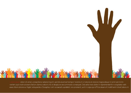 Hands  Abstract background for design, vector illustration