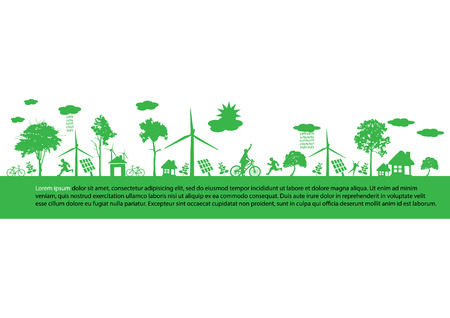 solarpower: green earth - sustainable development concept