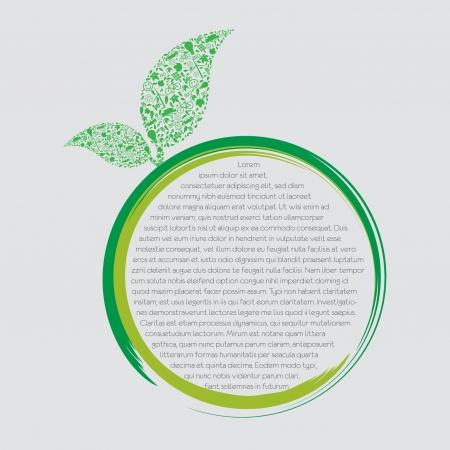 緑の地球 - 持続可能な開発の概念