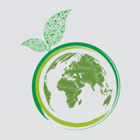 green earth - sustainable development concept Vector