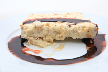 glace: Nougat with glacé cherries Stock Photo