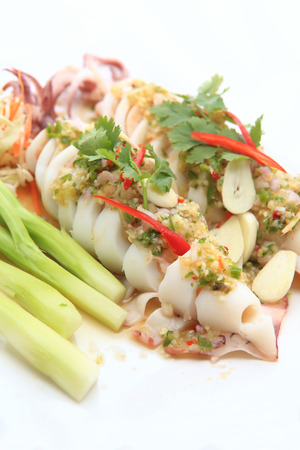 Squid steamed with lemon photo