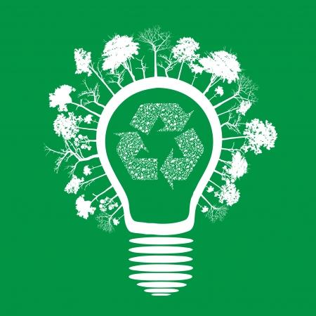 welfare plant: ecology concept - bulb   design   Illustration