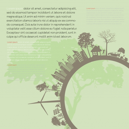 Save the earth illustration Illustration