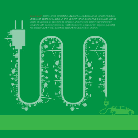 Eco infographic elements set Vector