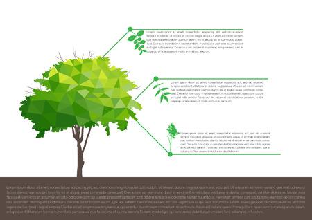 diagrama de arbol: infografía ecológicos con árboles concepto infografía