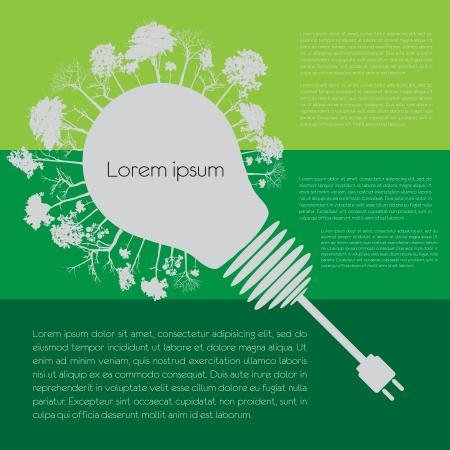 Eco infographic elements Illustration