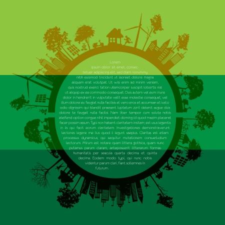 reforestaci�n: Los elementos infogr�ficos Eco Vectores
